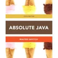 Absolute Java plus MyProgrammingLab with Pearson eText -- Access Card Package