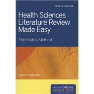 Health Sciences Literature Review Made Easy (Book with Access Code)