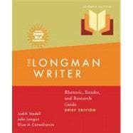 Longman Writer, The, Brief Edition, MLA Update Edition: Rhetoric, Reader, and Research Guide
