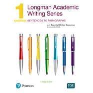 Longman Academic Writing Series 1: Sentences to Paragraphs